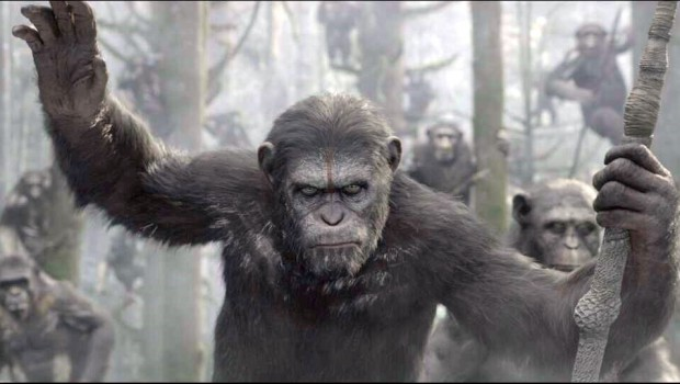Dawn of the Planet of the Apes Old Caesar light